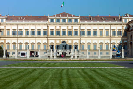 monza: Monza (Lombardy, Italy) - Royal Palace, the exterior at spring