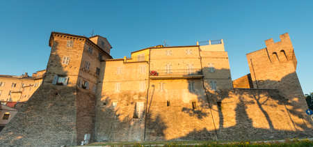 historic buildings: Macerata (Marches, Italy): historic buildings at evening
