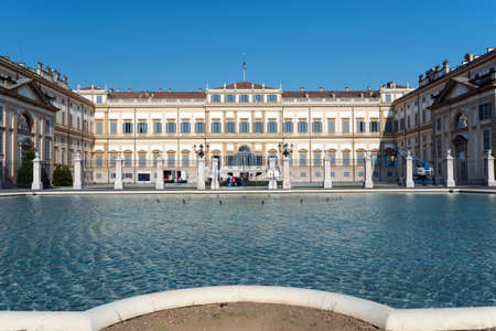 Monza (Lombardy, Italy) - Royal Palace, the exterior at spring