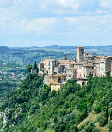 terni day: Panoramic view of Narni (Terni, Umbria, Italy), medieval city