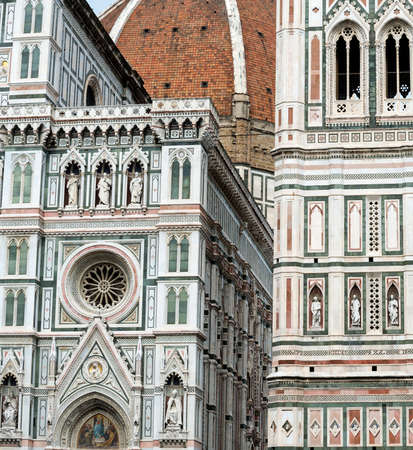 firenze: Florence (Firenze, Tuscany, Italy): the medieval cathedral with the Brunelleschis dome and the Giottos belfry