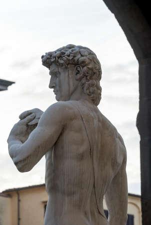 firenze: Florence (Firenze, Tuscany, Italy): statue of David di Donatello in Piazza della Signoria