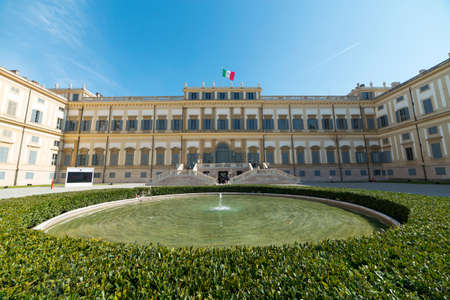 reale: Monza (Brianza, Lombardy, Italy): exterior of the Villa Reale, historic palace in the Monza Park Editorial