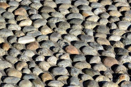 cobbled: Agliate (Brianza, Milano, Lombardy, Italy) - Rizzada (cobbled paving) Stock Photo