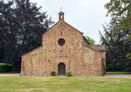 11th century: Viguzzolo (Alessandria, Piedmont, Italy): medieval church of Santa Maria, in Romanesque style, built in the 11th century