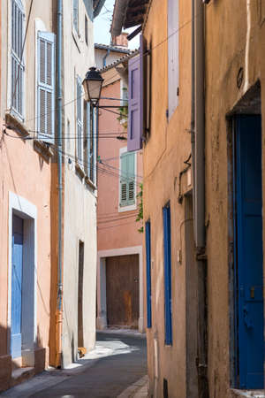 apt: Apt (Vaucluse, Provence-Alpes-Cote dAzur, France): typical old street Stock Photo