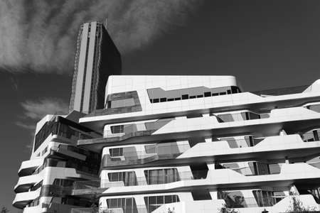 citylife: Modern buildings in Milan (Lombardy, Italy): Citylife. Black and white