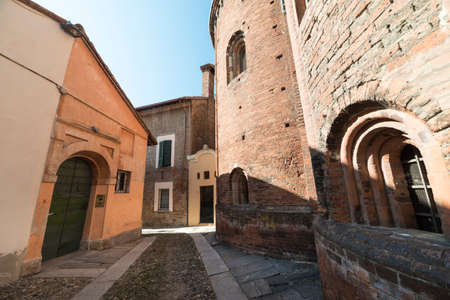 12th century: Pavia (Lombardy, Italy), apse of the medieval church of San Teodoro, built in 12th century Stock Photo