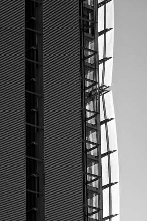 citylife: Modern building in Milan (Lombardy, Italy): Citylife. Black and white