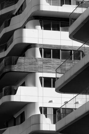 citylife: Modern residential buildings in Milan (Lombardy, Italy): Citylife. Black and white Editorial