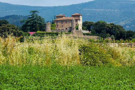 gothic castle: The gothic castle of Bousquet (Herault, Languedoc-Roussillon, France)