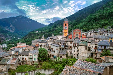 maritimes: Tende (Alpes Maritimes, France), typical historic town