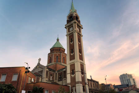 evening church: Milan (Lombardy, Italy): church known as Madonna di Lourdes at evening