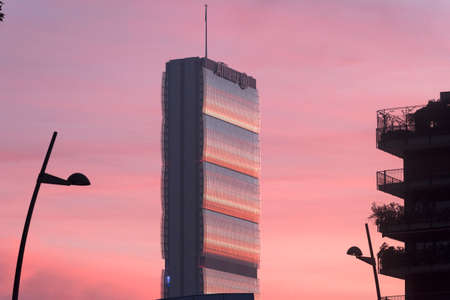 citylife: Milan (Lombardy, Italy): modern tower in Citylife at evening Editorial