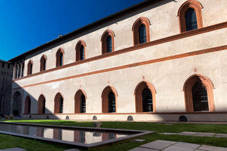 sforzesco: Milan (Lombardy, Italy): internal court of the medieval castle known as Castello Sforzesco (built at end of 15th century(