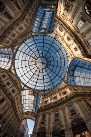 vittorio emanuele: Milan (Lombardy, Italy): the Gallery Vittorio Emanuele II, a covered public place built in 1865-1877 Editorial