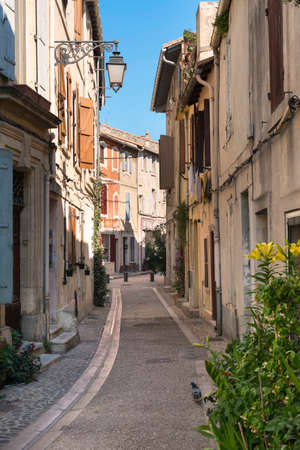 arles: Arles (Bouches-du-Rhone, Provence-Alpes-Cote-dAzur): typical old street Stock Photo