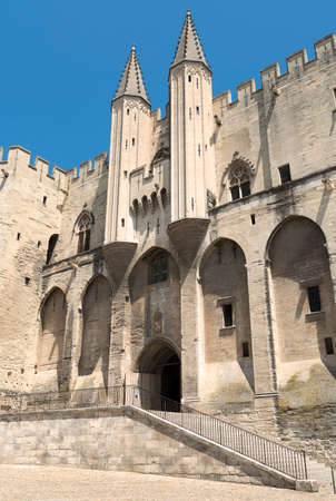 vaucluse: Avignon (Vaucluse, Provence-Alpes-Cote dAzur, France): the medieval Palace of the Popes