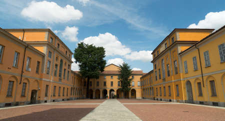 external: Pavia (Lombardy, Italy): external court of the historic University Editorial