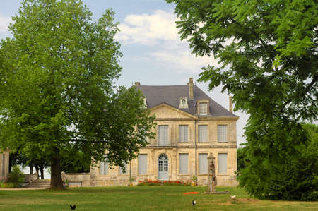 vendee: Villa in the countryside of Vendee (Pays-de-la-Loire, France) at summer