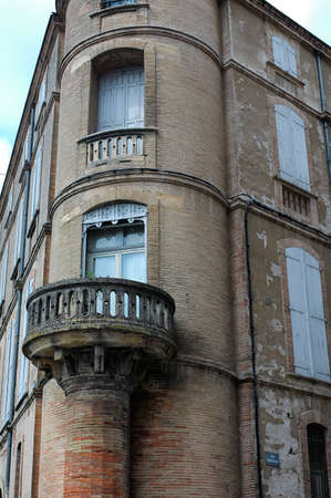 tarn: Gaillac (Tarn, Midi-Pyrénées, France): Ihistoric palace, with balcony at corner