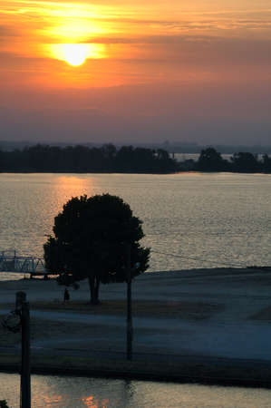 gironde: Sunset in Blaye (Gironde, Aquitaine, France) at summer Stock Photo