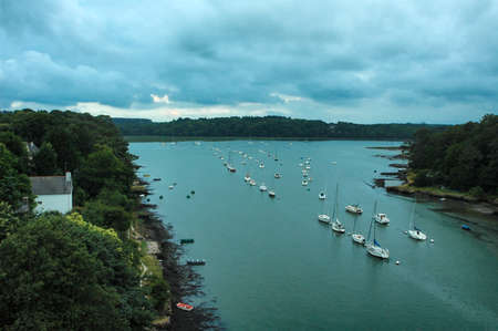 bono: Le Bono (Morbihan, Brittany, France):  the harbour with boats