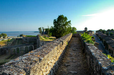 Blaye (Gironde, Aquitaine, France): the historic town: the walls Stock Photo