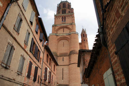 tarn: Albi (Tarn, Midi-Pyrenees, France) - Exterior of the historic cathedral, in gothic style Stock Photo