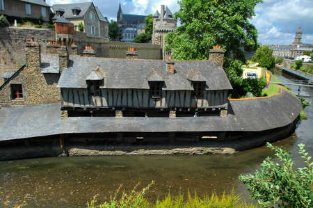 Vannes (Brittany, Northern France) - The walls of the ancient town and the moat
