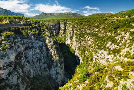 gorges: Gorges du Verdon (Alpes-de-Haute-Provence, Provence-Alpes-Cote dAzur, France), famous canyon Stock Photo