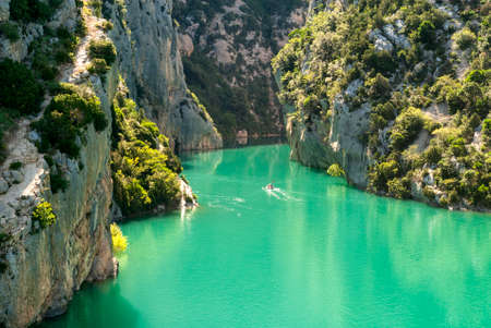 Gorges du Verdon (Alpes-de-Haute-Provence, Provence-Alpes-Cote dAzur, France), famous canyon Stock Photo