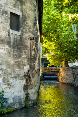 watermills: Avignon (Provence-Alpes-Cote dAzur, France): rue des teinturiers and its watermills