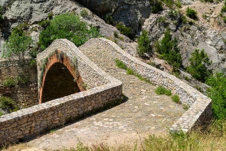 catalunya: Noguera (Catalunya, Spain): historic stone bridge