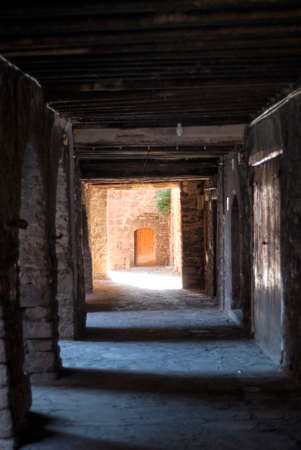 portico: Vilamur (Catalunya, Spain): old typical village in the Pyrenees: portico
