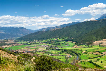 canto: Mountain landscape of Pyrenees from the Collado del Canto (Catalunya, Spain) at summer.