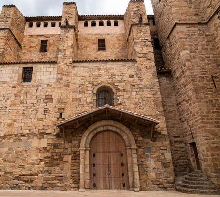 catalunya: Tremp (Catalunya, Spain): exterior of medieval church Stock Photo