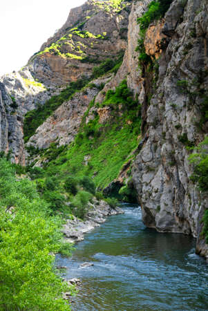 catalunya: The road from Sort to Tremp (Catalunya, Spain), in the Pyrenees, at summer: river