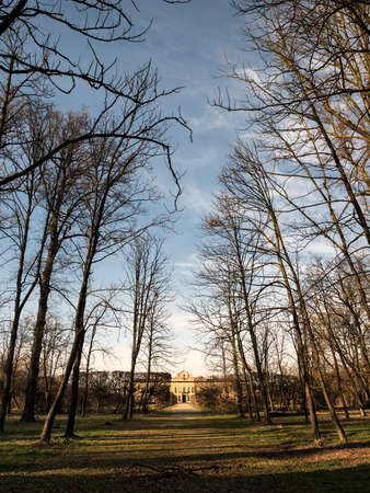 17th century: The historic Villa Arconati at Castellazzo di Bollate (Milan, Lombardy, Italy) and its park at winter (February). Built in the 17th century. Editorial