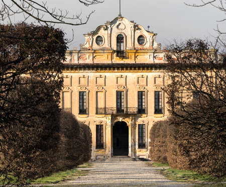 17th: The historic Villa Arconati at Castellazzo di Bollate (Milan, Lombardy, Italy) and its park at winter (February). Built in the 17th century. Editorial