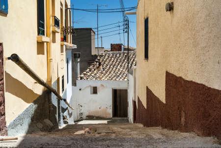aragon: Almudevar (Aragon, Spain): old typical buildings and cat