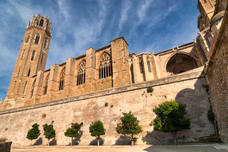 catalunya: Lerida (Lleida, Catalunya, Spain) at summer. The historic city, in gothic style Stock Photo