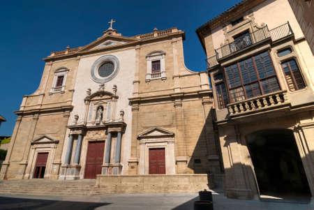 catalunya: Vic (Catalunya, Spain): the historic cathedral: facade Stock Photo