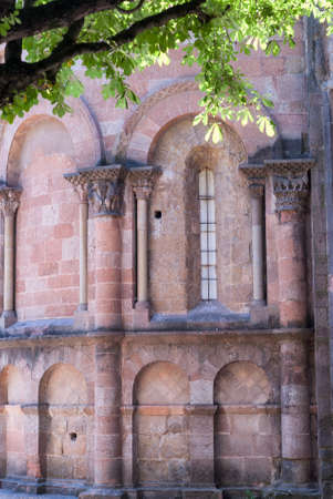 sant joan de les abadesses: Sant Joan de les Abadesses (Catalunya, Spain) - The medieval abbey Stock Photo