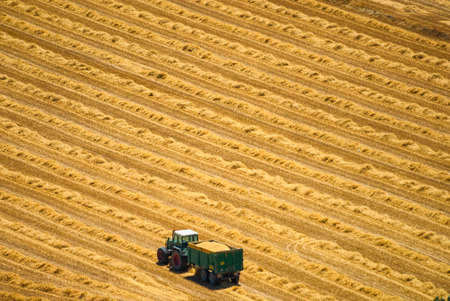 catalunya: Country landscape from Cervera (Catalunya, Spain) at summer. Lonely tractor Stock Photo