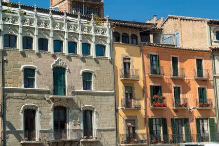 catalunya: Vic (Catalunya, Spain): historic buildings in the main square of the city Stock Photo