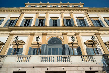 monza: Monza (Brianza, Lombardy, italy): facade of the historic royal palace Editorial