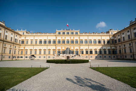 Monza (Brianza, Lombardy, italy): facade of the historic royal palace