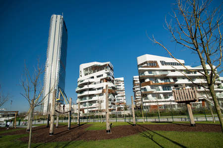 citylife: Milan (Lombardy, Italy): Citylife, modern residential  and office buildings