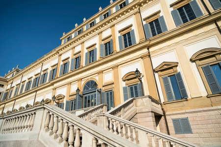 monza: Monza (Brianza, Lombardy, italy): facade of the historic royal palace Editorial